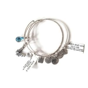 NWT Alex and Ani bracelets with charms butterfly